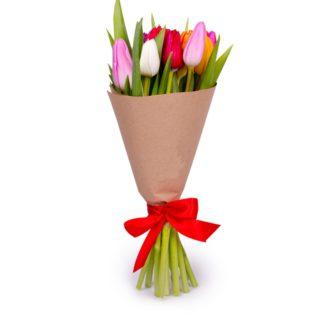 11 тюльпанов микс в бумаге