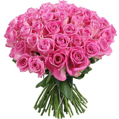33 розовые розы
