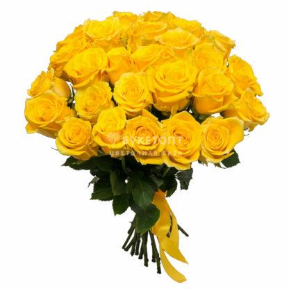 33 желтые розы