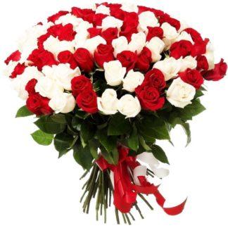 75 роз ассорти
