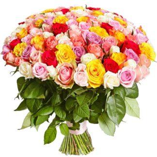 101 роза ассорти(светлый)
